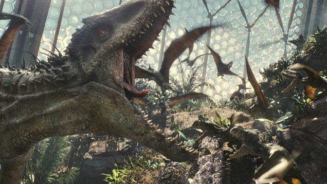 Jurassic World Indominus scaring Dimorphodons