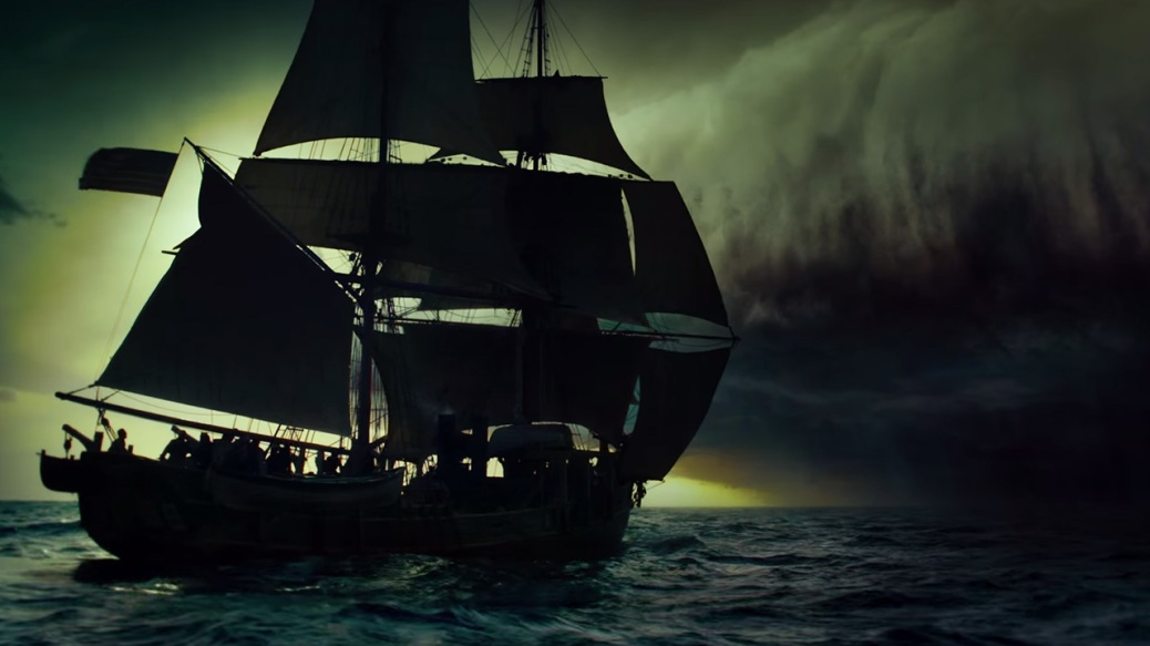 In the Heart of the Sea, Essex and storm